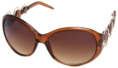 Angle of SW Oversized Style #163 in Brown Frame, Women's and Men's
