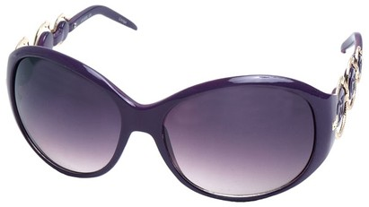 Angle of SW Oversized Style #163 in Purple Frame, Women's and Men's
