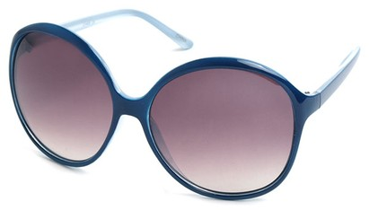 Angle of SW Oversized Style #1577 in Blue Frame, Women's and Men's