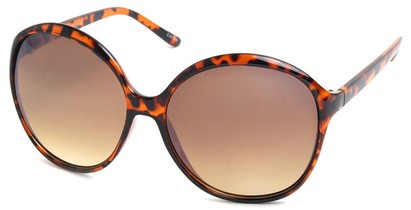 Angle of SW Oversized Style #1577 in Tortoise Frame, Women's and Men's