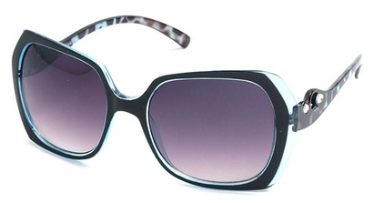 Angle of SW Animal Print Style #1455 in Blue Frame, Women's and Men's