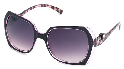 Angle of SW Animal Print Style #1455 in Purple Frame, Women's and Men's