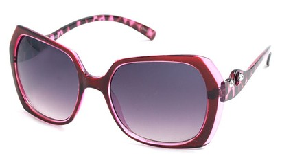 Angle of SW Animal Print Style #1455 in Pink Frame, Women's and Men's