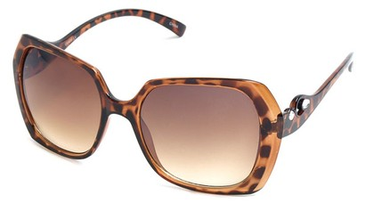 Angle of SW Animal Print Style #1455 in Tortoise Frame, Women's and Men's