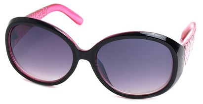 Angle of SW Flower Style #162 in Black and Pink Frame, Women's and Men's