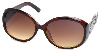 Angle of SW Flower Style #162 in Brown Frame, Women's and Men's
