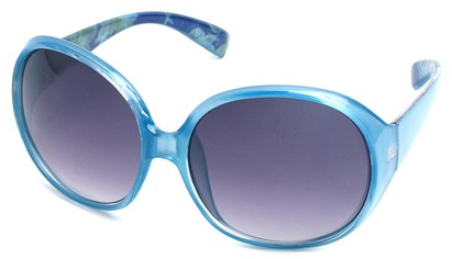 Angle of SW Oversized Style #15025 in Blue Frame, Women's and Men's