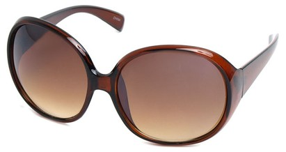 Angle of SW Oversized Style #15025 in Brown Frame, Women's and Men's