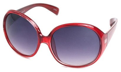 Angle of SW Oversized Style #15025 in Red Frame, Women's and Men's