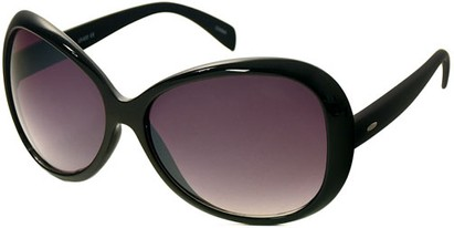 Angle of SW Oversized Style #1701 in Solid Black Frame, Women's and Men's