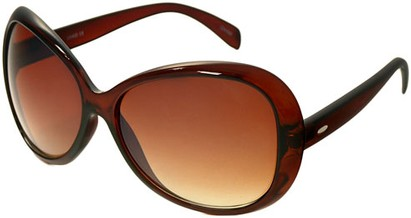 Angle of SW Oversized Style #1701 in Solid Brown Frame, Women's and Men's