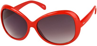 Angle of SW Oversized Style #1701 in Red Frame, Women's and Men's