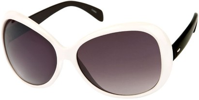 Angle of SW Oversized Style #1701 in White Black Frame, Women's and Men's