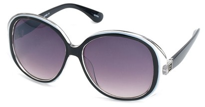 Angle of SW Oversized Style #5086 in Black and White Frame, Women's and Men's