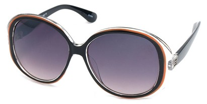 Angle of SW Oversized Style #5086 in Black and Orange Frame, Women's and Men's