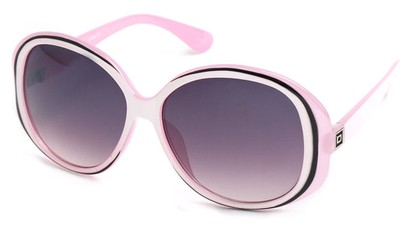 Angle of SW Oversized Style #5086 in Pink and White Frame, Women's and Men's
