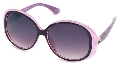 Angle of SW Oversized Style #5086 in Pink and Purple Frame, Women's and Men's