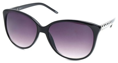 Angle of SW Cat Eye Style #3660 in Black Frame, Women's and Men's