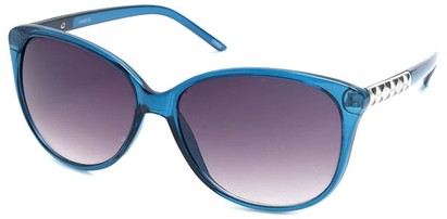 Angle of SW Cat Eye Style #3660 in Blue Frame, Women's and Men's