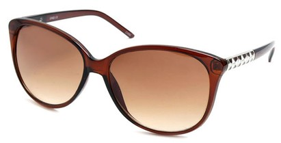Angle of SW Cat Eye Style #3660 in Brown Frame, Women's and Men's