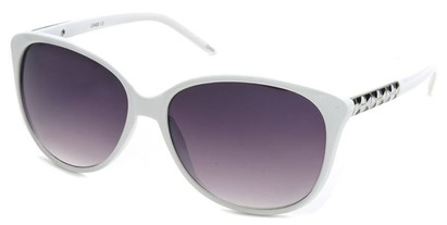 Angle of SW Cat Eye Style #3660 in White Frame, Women's and Men's