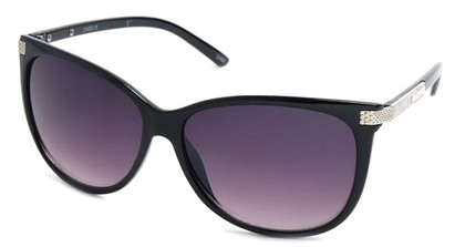 Angle of SW Cat Eye Style #61659 in Black Frame, Women's and Men's