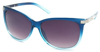 Angle of SW Cat Eye Style #61659 in Blue Frame, Women's and Men's