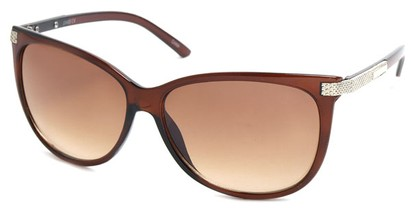 Angle of SW Cat Eye Style #61659 in Brown Frame, Women's and Men's
