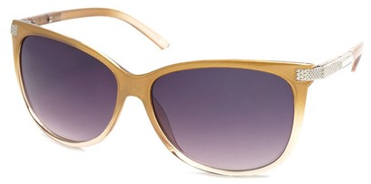 Angle of SW Cat Eye Style #61659 in Gold Frame, Women's and Men's
