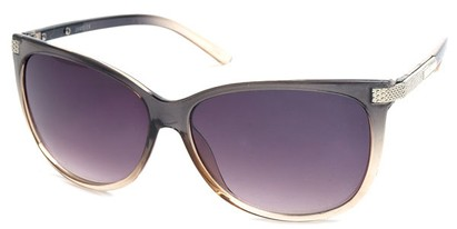 Angle of SW Cat Eye Style #61659 in Grey Frame, Women's and Men's