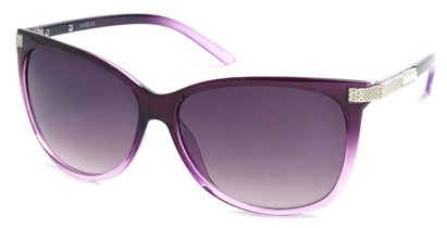 Angle of SW Cat Eye Style #61659 in Purple Frame, Women's and Men's
