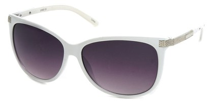 Angle of SW Cat Eye Style #61659 in White Frame, Women's and Men's