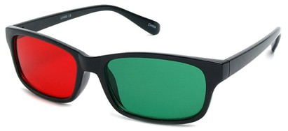 Angle of SW 3D Glasses Style #8730 in Black Frame, Women's and Men's