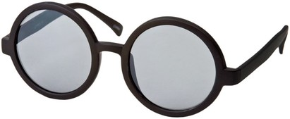 Angle of SW Round Style #1213 in Matte Black Frame, Women's and Men's