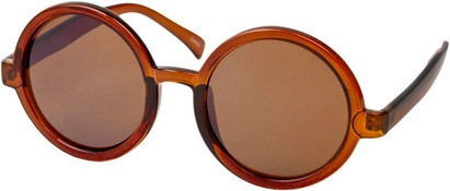 Angle of SW Round Style #1213 in Brown Frame, Women's and Men's