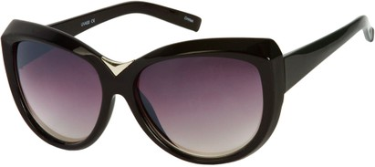 Angle of SW Oversized Cat Eye Style #9259 in Black Frame, Women's and Men's