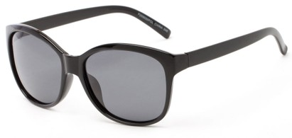 Angle of Eden #2690 in Black Frame with Grey Lenses, Women's Retro Square Sunglasses