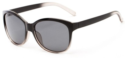 Angle of Eden #2690 in Black/Clear Frame with Grey Lenses, Women's Retro Square Sunglasses