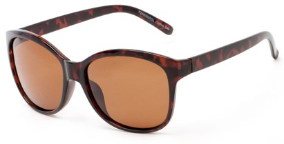 Angle of Eden #2690 in Tortoise Frame with Amber Lenses, Women's Retro Square Sunglasses