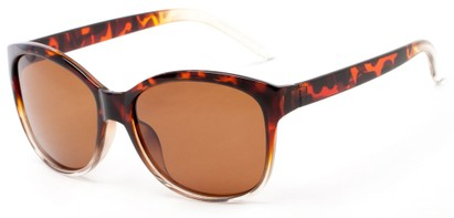 Angle of Eden #2690 in Tortoise/Clear Frame with Amber Lenses, Women's Retro Square Sunglasses