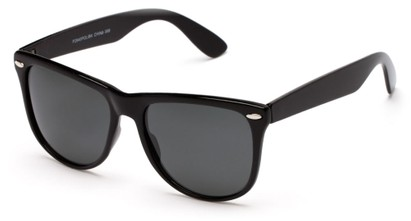 Angle of Tavern #2840 in Black Frame with Smoke Lenses, Women's and Men's Retro Square Sunglasses