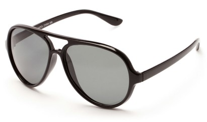 Angle of Andes #3144 in Black, Men's Aviator Sunglasses