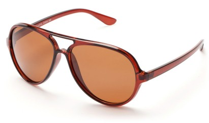 Angle of Andes #3144 in Brown, Men's Aviator Sunglasses