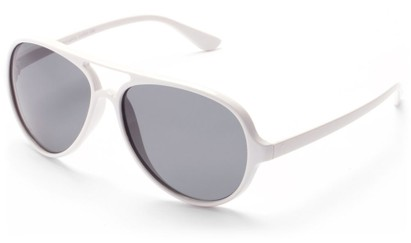 Angle of Andes #3144 in White, Men's Aviator Sunglasses