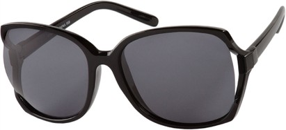 Angle of Redwood #2160 in Black Frame with Grey Lenses, Women's Square Sunglasses