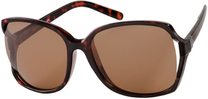 Angle of Redwood #2160 in Tortoise Frame with Amber Lenses, Women's Square Sunglasses