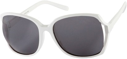 Angle of Redwood #2160 in White Frame with Grey Lenses, Women's Square Sunglasses