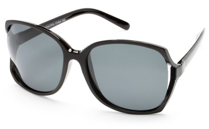Angle of Palm Springs in Black Frame with Smoke Lenses, Women's and Men's