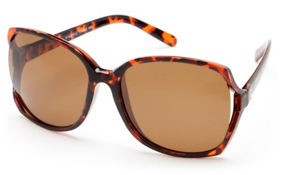 Angle of Palm Springs in Tortoise Frame with Brown Lenses, Women's and Men's