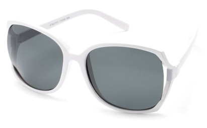 Angle of Palm Springs in White Frame with Smoke Lenses, Women's and Men's